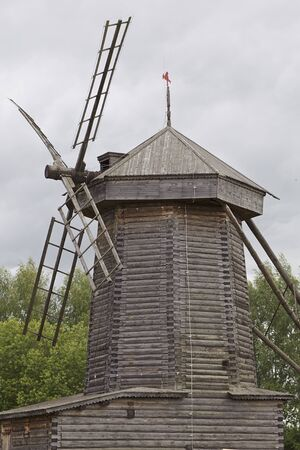 Very old Russian completely wooden mill, Russia Stock fotó