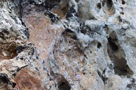 Details and forms of rocks on Railay peninsula, Krabi, Thailand Stok Fotoğraf - 96132637