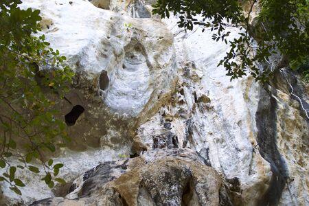 Details and forms of rocks on Railay peninsula, Krabi, Thailand Stok Fotoğraf - 96183514