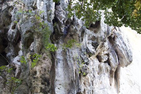 Details and forms of rocks on Railay peninsula, Krabi, Thailand Stock Photo