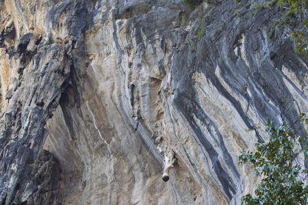 Details and forms of rocks on Railay peninsula, Krabi, Thailand Stok Fotoğraf - 96183405