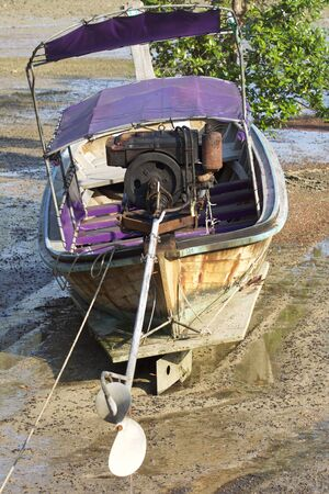 Old fishing boat on the Railay Peninsula, Krabi, Thailand