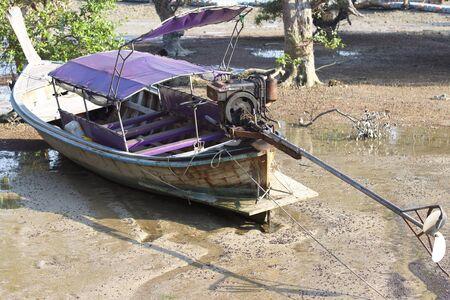 Old fishing boat on the Railay Peninsula, Krabi, Thailand
