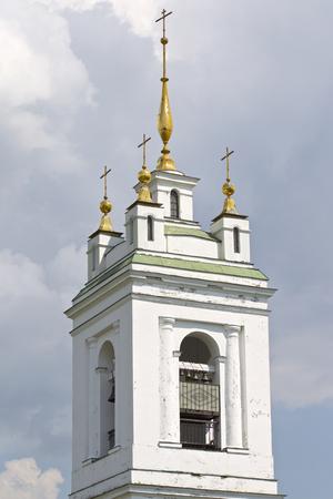 Architecture of Russian Orthodox Churches and Cathedrals, Konstantinovo Village, Ryazan Region, Russia Standard-Bild - 111288474