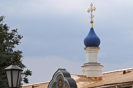 Architecture of Russian Orthodox Churches and Cathedrals, Village Poschupovo, Ryazan Region, Russia Standard-Bild - 111288516