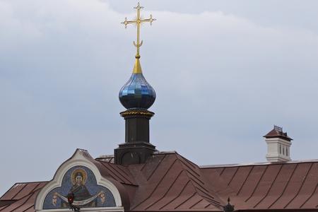 Architecture of Russian Orthodox Churches and Cathedrals, Village Poschupovo, Ryazan Region, Russia Standard-Bild - 111288247