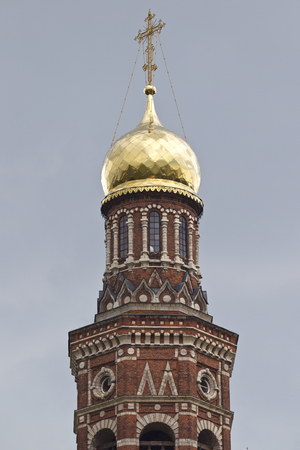 Architecture of Russian Orthodox Churches and Cathedrals, Village Poschupovo, Ryazan Region, Russia Standard-Bild - 111288292