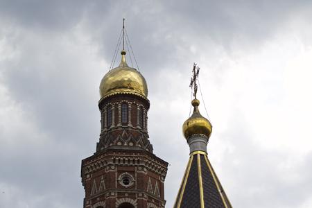 Architecture of Russian Orthodox Churches and Cathedrals, Village Poschupovo, Ryazan Region, Russia Standard-Bild - 111287887
