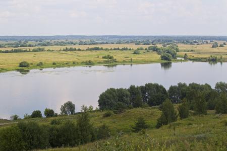View of the Oka River near the village of Konstantinovo, Ryazan Region, Russia Standard-Bild - 111287778