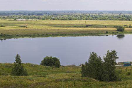 View of the Oka River near the village of Konstantinovo, Ryazan Region, Russia Standard-Bild - 111287784