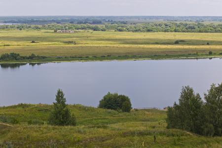 View of the Oka River near the village of Konstantinovo, Ryazan Region, Russia Standard-Bild - 111287790