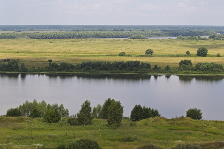 View of the Oka River near the village of Konstantinovo, Ryazan Region, Russia Standard-Bild - 111287831