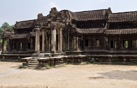 Architecture of ancient temple complex Angkor, Siem Reap, Cambodia Banco de Imagens