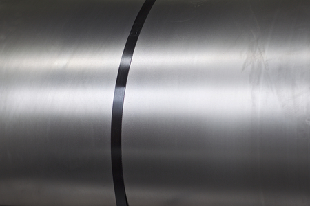 Rolls of cold-rolled galvanized steel in stock, Russia Banco de Imagens - 121883865