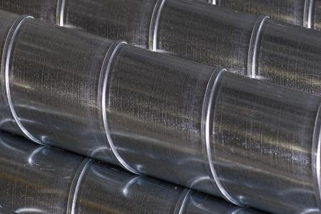 Elementos y piezas de chapa galvanizada para varios sistemas de ventilación, Rusia Foto de archivo