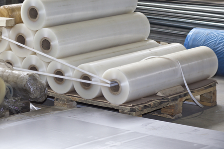 Polymer film rolls for metal sheet coating, Russia Imagens
