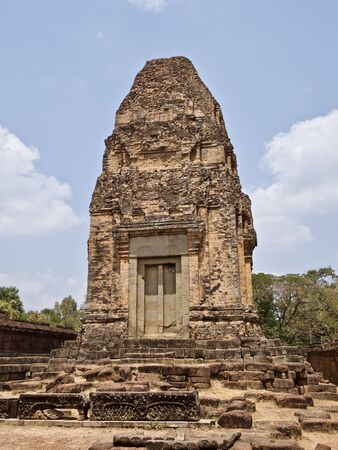Architecture of ancient temple complex Angkor, Siem Reap, Cambodia Stock Photo