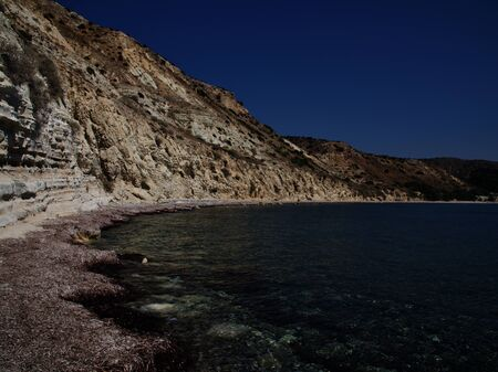 View of the coast of the resort of Pissouri, Cyprus, Mediterranean Sea
