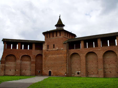 Elements of ancient architecture of the Kolomna Kremlin, Russia