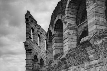 verona: Verona Arena, a Roman amphitheater in Piazza Bra in Verona, Italy Stock Photo