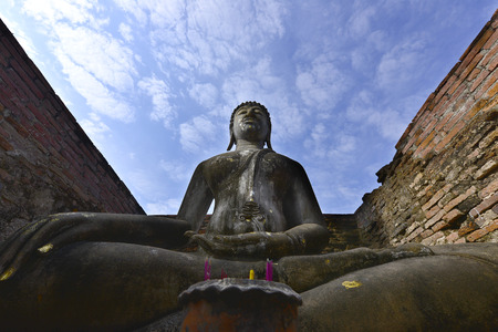 empires: Sukhothai historical park old town Sukhothai province of Thailand.  The great empires of Siam in the past century, 18-19. Historic Town of Sukhothai and Associated Historic Towns Stock Photo