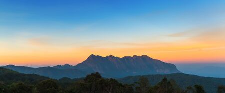 Beautiful Panorama of Doi Luang Chiang Dao Mountain in Chiang Mai province Thailand. The second highest mountain in Northern Thailand