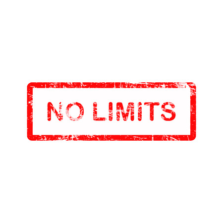 no limits: no limits red square stamp