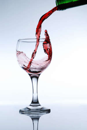 Red wine pour in a glass Stock Photo - 1934036
