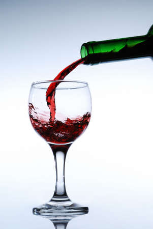 Red wine pour in a glass Stock Photo - 1934039