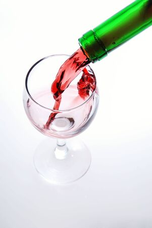 Red wine pour in a glass Stock Photo - 1934038