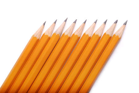 learning series: closeup photography of some pencils on white paper