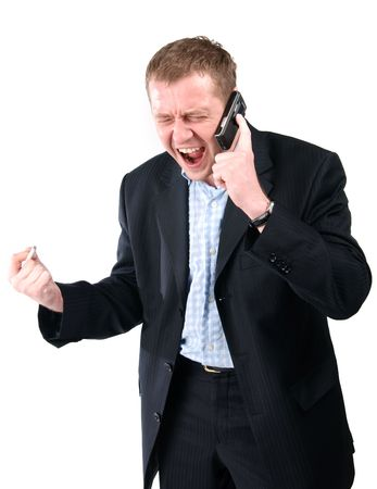 Man talking over the phone Stock Photo - 3496249
