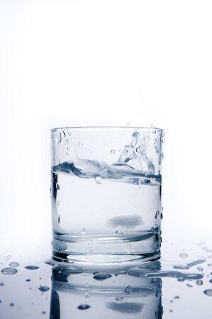 thirsting: Glass of splashing water