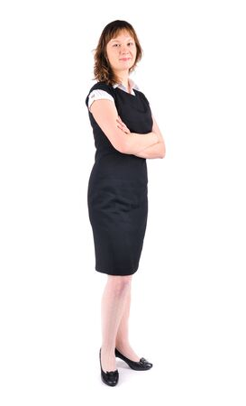 business woman on a white background Stock Photo - 4227968