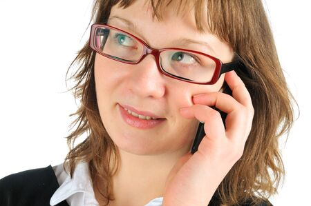mobilephones: Young woman taking over cell or mobile phone