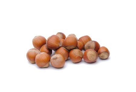 Isolated  hazelnuts Stock Photo - 4465318