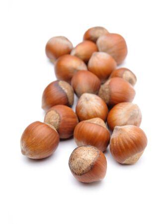Isolated  hazelnuts Stock Photo - 4465332