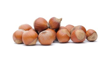 Isolated  hazelnuts Stock Photo - 4551762