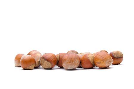 Isolated  hazelnuts Stock Photo - 4551793