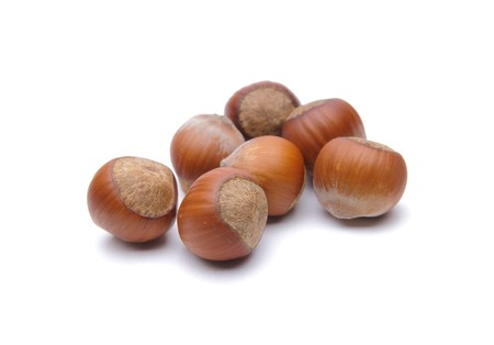 Isolated  hazelnuts Stock Photo - 4551771