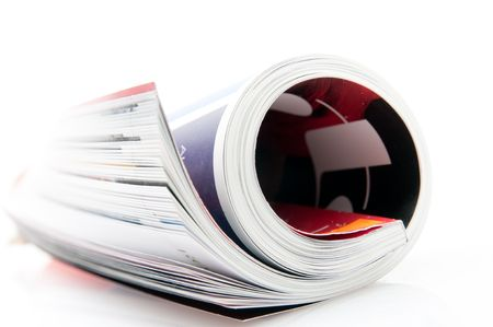 rolled: rolled magazine Stock Photo