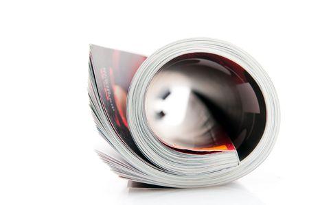 rolled magazine Stock Photo - 4738883