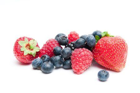 Isolated fresh berries photo