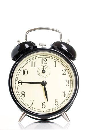alarmclock: Isolated vintage alarm-clock