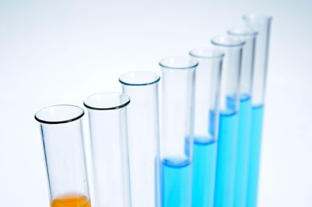 Test tubes on white background Stock Photo - 5766957