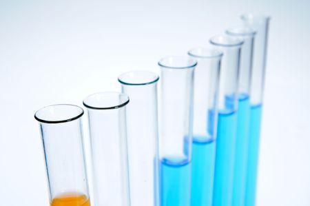 Test tubes on white background Stock Photo - 5766957