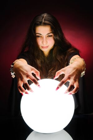 Fortuneteller at work Stock Photo - 6086738