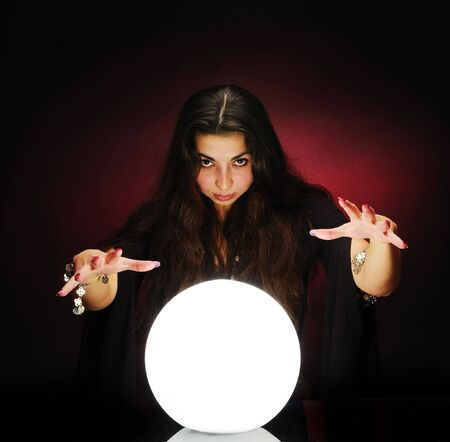 Fortuneteller at work Stock Photo - 6086782