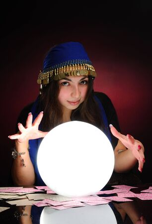 Fortuneteller at work Stock Photo - 6086783