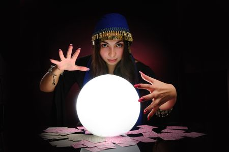 Fortuneteller at work Stock Photo - 6086809